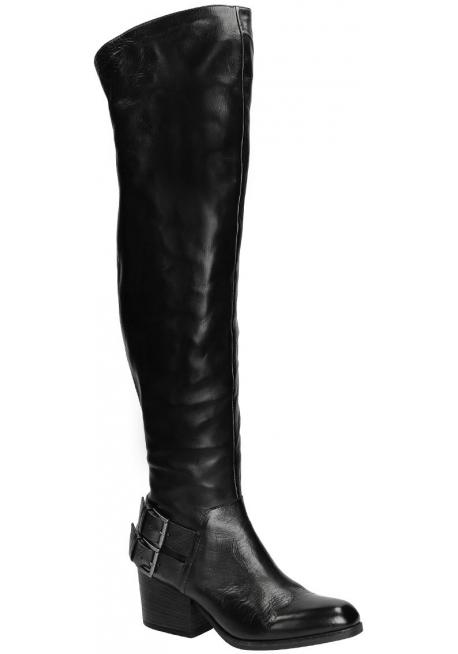 Vic Matié botas altas en cuero negro