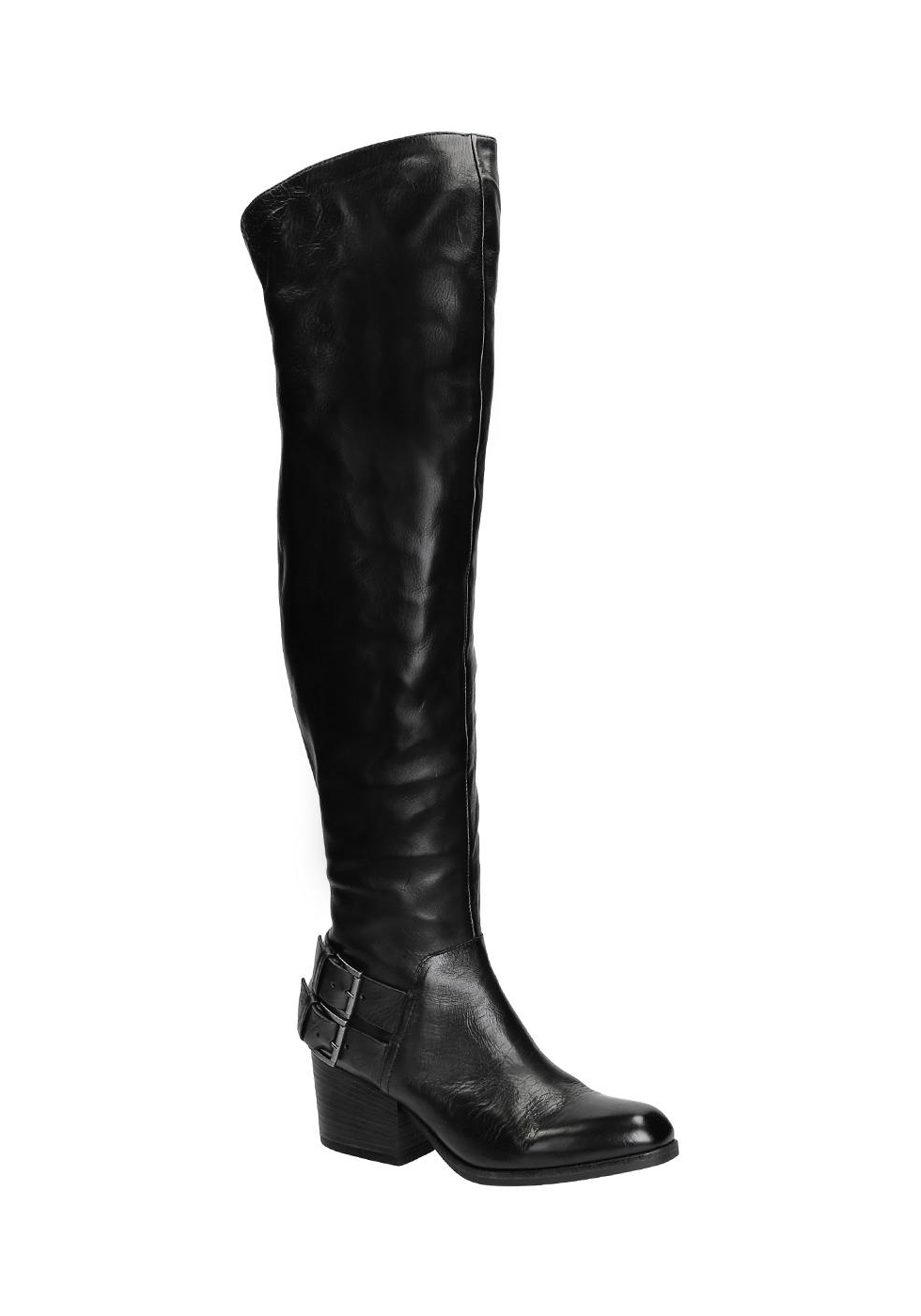 Vic Matié botas cuero altas en cuero botas negro Italian Boutique 6c6200