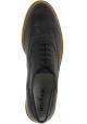 Hogan Zapatos brogues de mujer en piel negra con suela blanca