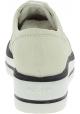 Hogan Zapatos brogues de mujer con cordones cuña y puntera redondeada en piel blanca
