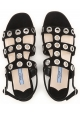 Sandalias planas de mujer Prada en ante negro