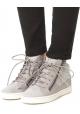 Zapatillas altas de mujer Zanotti con cordones en piel gris