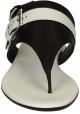 H133 Hogan cuero sandalias sandalias con hebilla de correa y laterales en contraste.