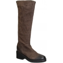 Vic Matié rodilla botas altas en marrón Suede cuero
