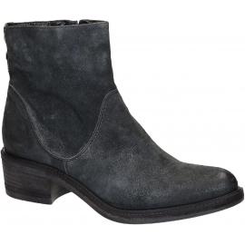 Vic Matié botas de tacón bajo en negro Suede leather