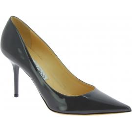 Jimmy Choo Zapato para mujer con tacón de aguja en piel gris brillante