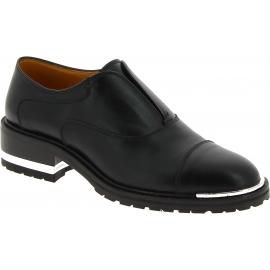 Barbara Bui Zapatos de moda sin cordones para mujer con tacón cómodo piel negra