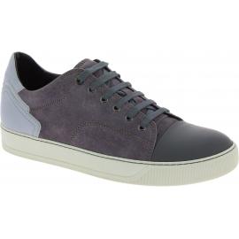 Lanvin Zapatillas bajas deportivas para hombre con cordones en ante gris