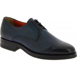 Santoni Zapatos brogue con cordones de punta redondeada hombre en cuero negro