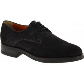 Santoni Zapatos brogue para hombre con cordones en ante gris oscuro