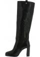 Stuart Weitzman Botas para mujer con tacón alto en piel color negro