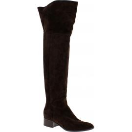Sartore Botas para mujeres en ante marrón con cremallera lateral