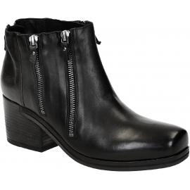 Vic Matié botas de tacón de cuero negro