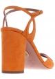 Aquazzura sandalias de tacón alto de cuero de gamuza de color naranja