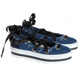 MSGM strappy slip-ons mocasines en Denim