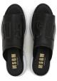 Las mujeres zapatillas MSGM en cuero negro