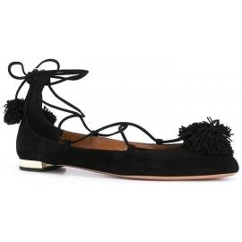 Zapatos de bailarina Aquazzura en piel de gamuza