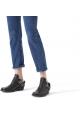Negro botas de cuero de Balenciaga utiliza efecto