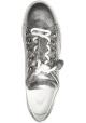 Tod's Zapatillas bajas de moda para mujer en piel laminada plateada con borlas