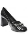Tod's Zapatos para mujer con tacón en piel negra con flecos y doble T