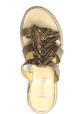 Sartore Sandalias mules para mujer con plataforma y flecos en piel color gris topo