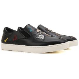 Zapatillas deportivas Dolce & Gabbana en cuero negro