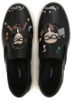 Slip-en el cuero Negro Dolce & Gabbana de los hombres