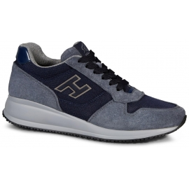 Zapatillas de deporte interactivo Hogan en gamuza de color azul claro