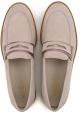 Hogan zapatos de mujer holgazanes de gamuza rosa