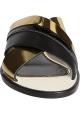 zapatillas de cross mujer Lanvin en cuero negro y oro