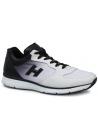 Hogan zapatillas de cuero blanco con gradación de negro
