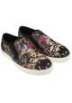 La impresión animal de las mujeres de Dolce & Gabbana-en zapatillas de deporte