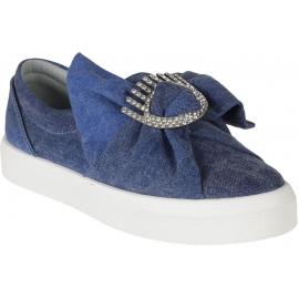 Zapatillas de deporte resbalón-en tela azul Chiara Ferragni