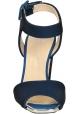 sandalias de tacón alto de Giuseppe Zanotti en tejido técnico azul