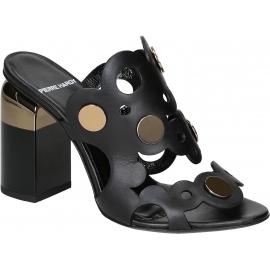 Pierre Hardy sandalias de tacón alto en piel de becerro negro
