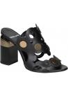 Pierre Hardy sandalias de tacón alto en piel de becerro negra
