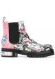 botines Alexander McQueen en cuero floral