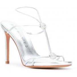 Stuart Weitzman sandalias de tacón alto en plata Piel de becerro laminado