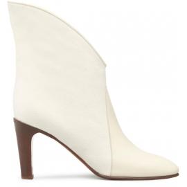 botines con tacón Chloé cuero y tela blanca