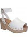 Céline wedges zuecos sandalias en piel de becerro blanca
