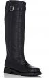 Botas altas de la rodilla de Saint Laurent en piel negra del pitón