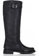 Pitón negro botas hasta la rodilla Saint Laurent