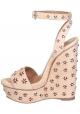 Sandalias zapatos de plataforma de color Alaïa Gamuza Nudo