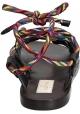 Sandalias planas Valentino para mujer en cuero antracita