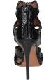 Sandalias de tacón alto Alaïa en piel pitón negra