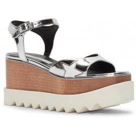 la piel de plata zapatos de plataforma sandalias de Stella McCartney parecido