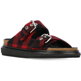 Zapatillas Isabel Marant en tela roja / negra