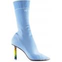 Botas elásticas azul claro con tacón más ligero de Vetements