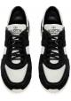 Zapatillas de deporte Valentino para hombre en color negro Tela de cuero blanco