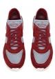 Zapatillas de hombre Valentino en gamuza burdeos y tela